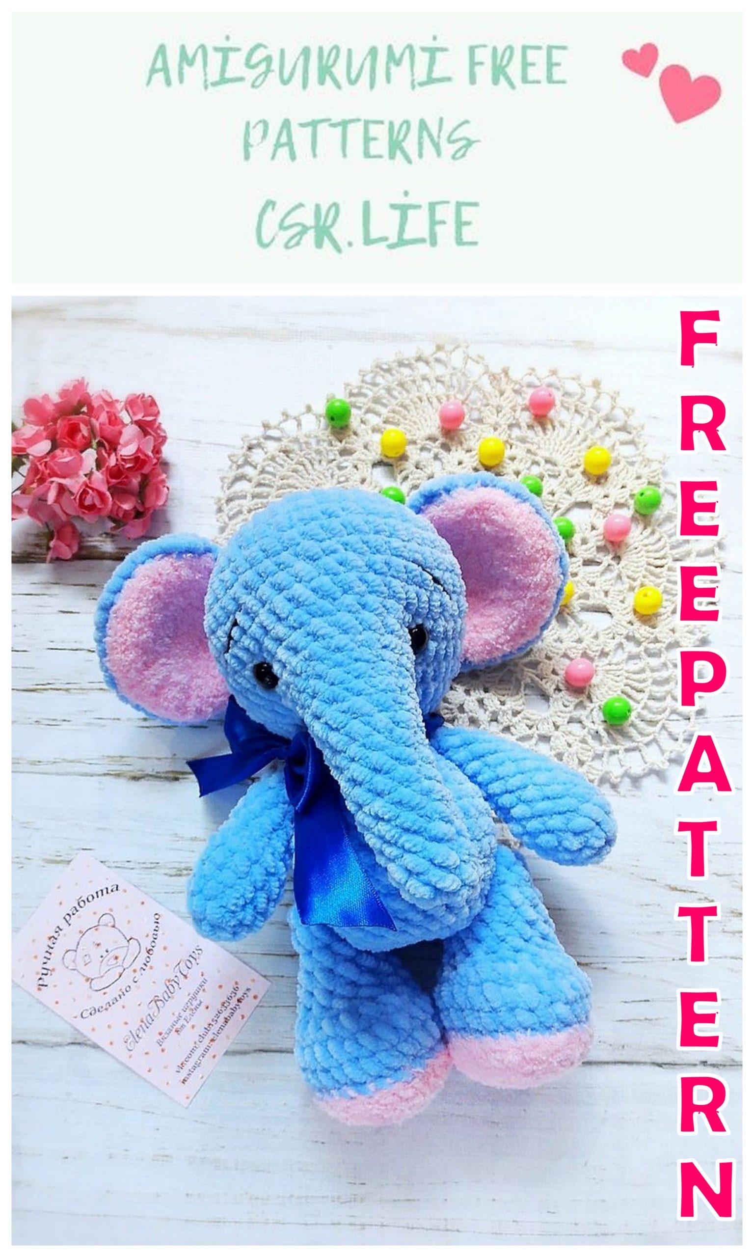 Crochet Pattern - Cute Amigurumi Style Elephant Toy (35cm Tall ...   2560x1536